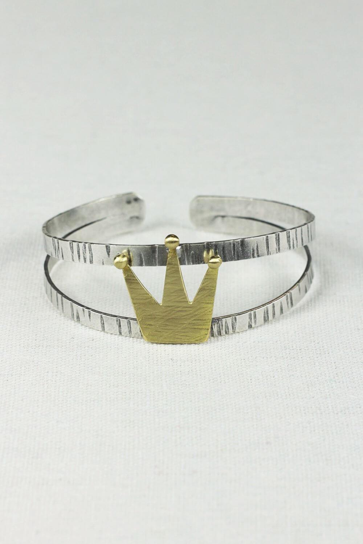 Βραχιόλι Silver Crown Gold