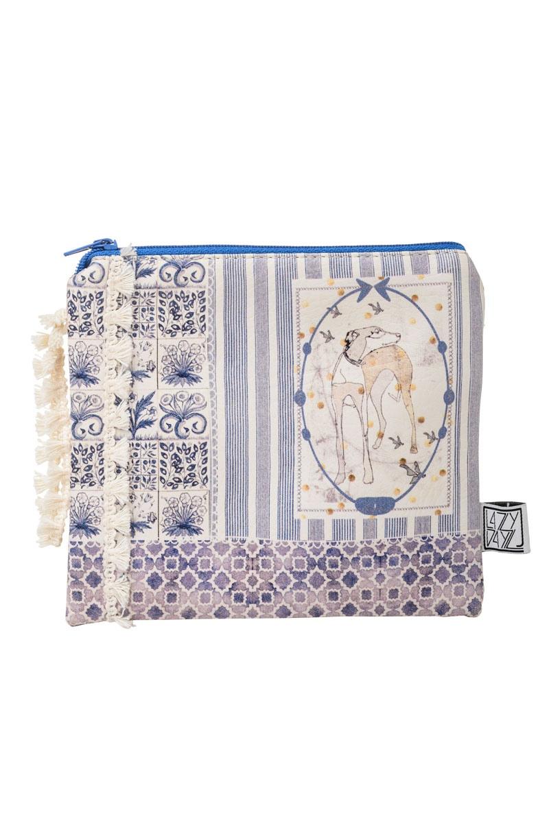 Τσαντάκι - πορτοφόλι Blue Tiles Dog