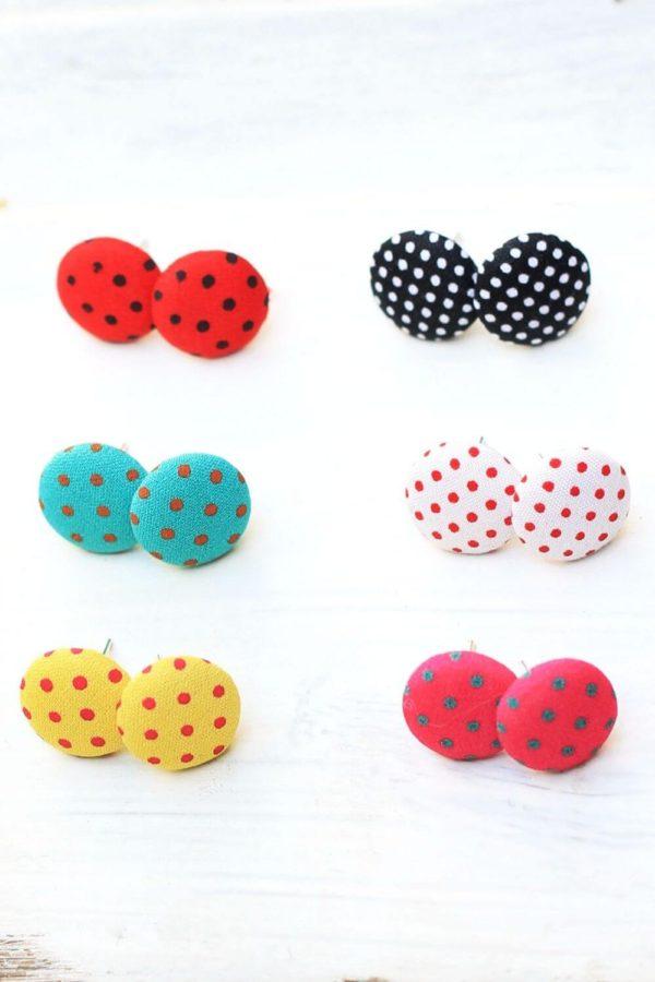 Σκουλαρίκια Dots Studs Mix 1