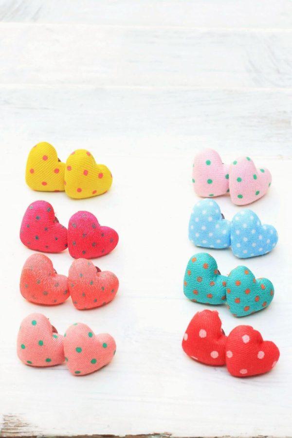 Σκουλαρίκια Heart Dots Studs Mix 1