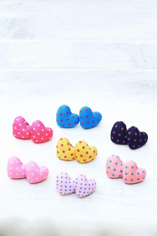 Σκουλαρίκια Heart Dots Studs Mix 2