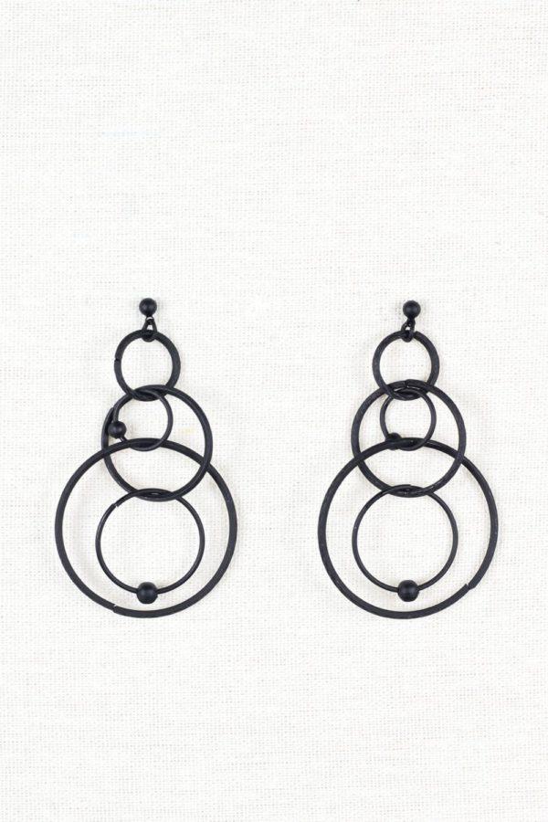 Σκουλαρίκια Μαύροι Κύκλοι