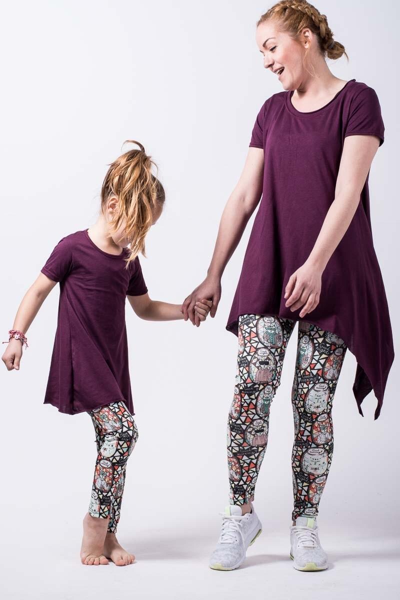 Μοβ Μπλούζα με Μύτες Παιδική