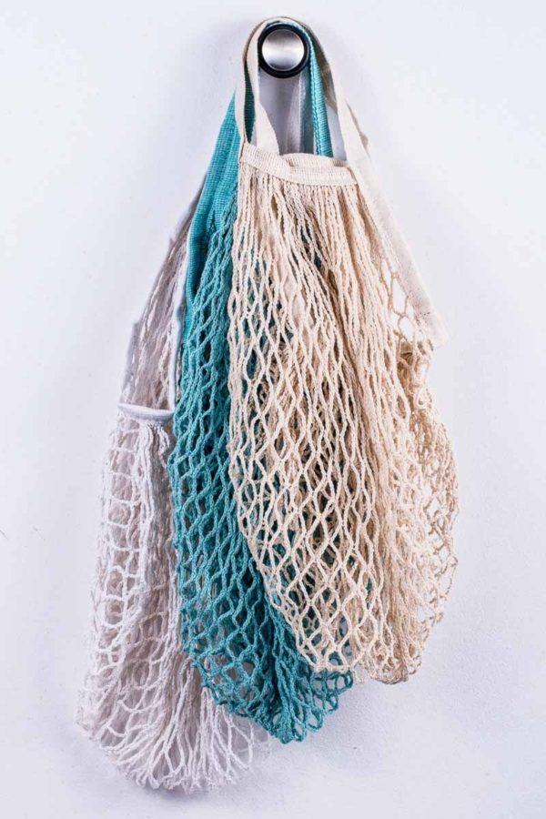 Τσάντα Δίχτυ Vintage Shopping Beige
