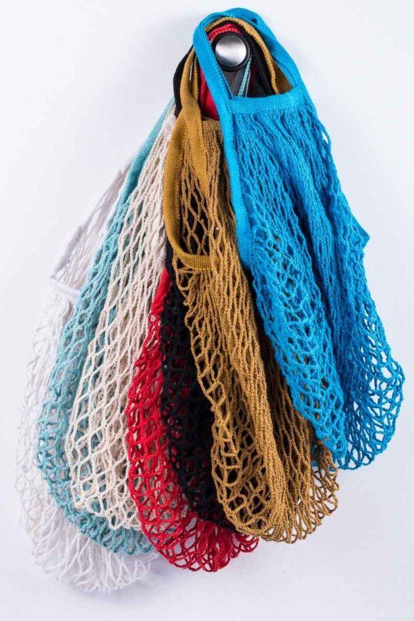 Τσάντα Δίχτυ Vintage Shopping Blue