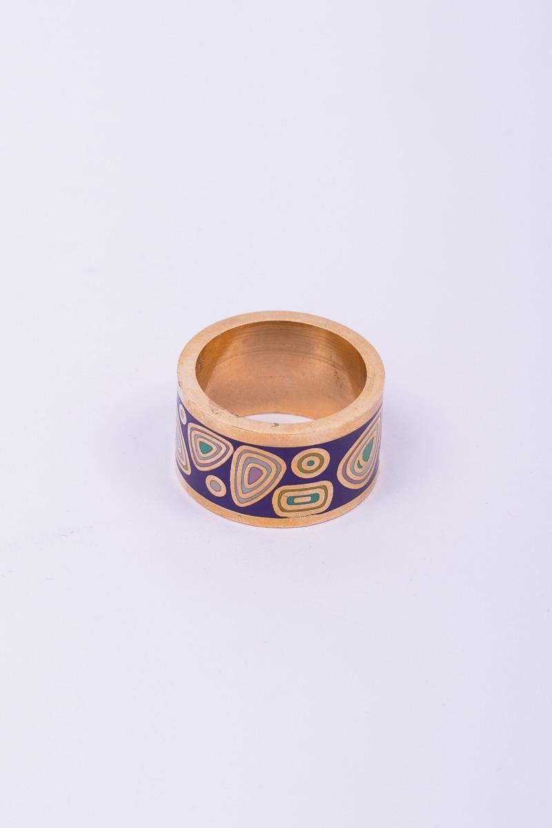 Δαχτυλίδι Χρυσό με Μοβ Σμάλτο