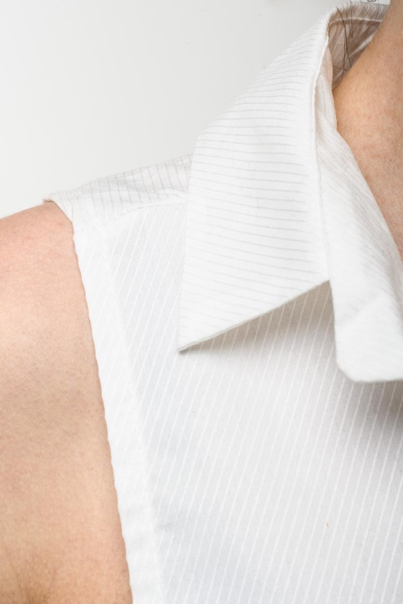 Μαύρο Φούτερ Μπλούζα με Πουκάμισο