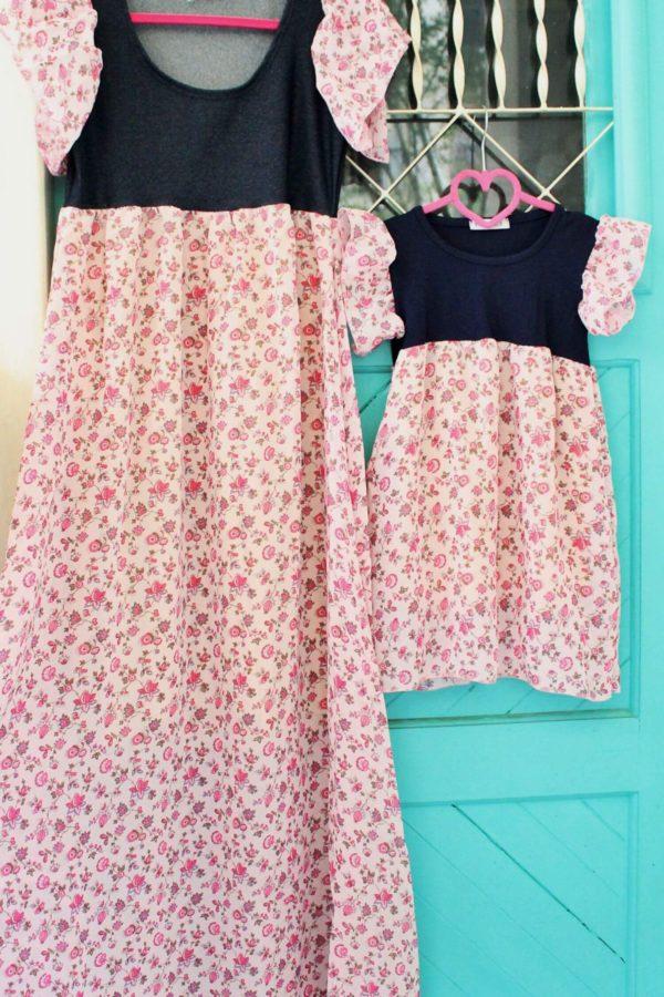 Παιδικό Φόρεμα Ροζ Φλοράλ