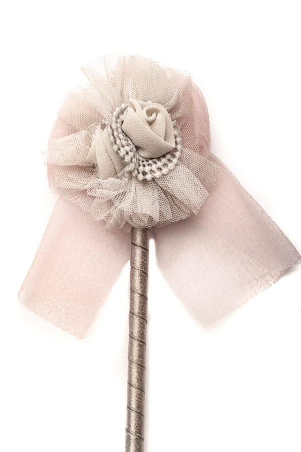 Στυλό με Διακόσμηση Λουλούδι Γκρι