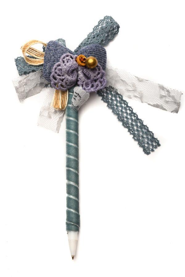 Στυλό με Διακόσμηση Φιόγκο Μπλε