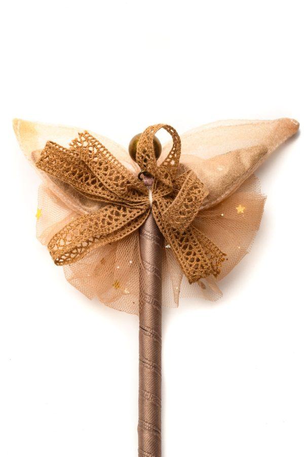 Στυλό με Διακόσμηση Φιόγκο Πεταλούδα Μπεζ
