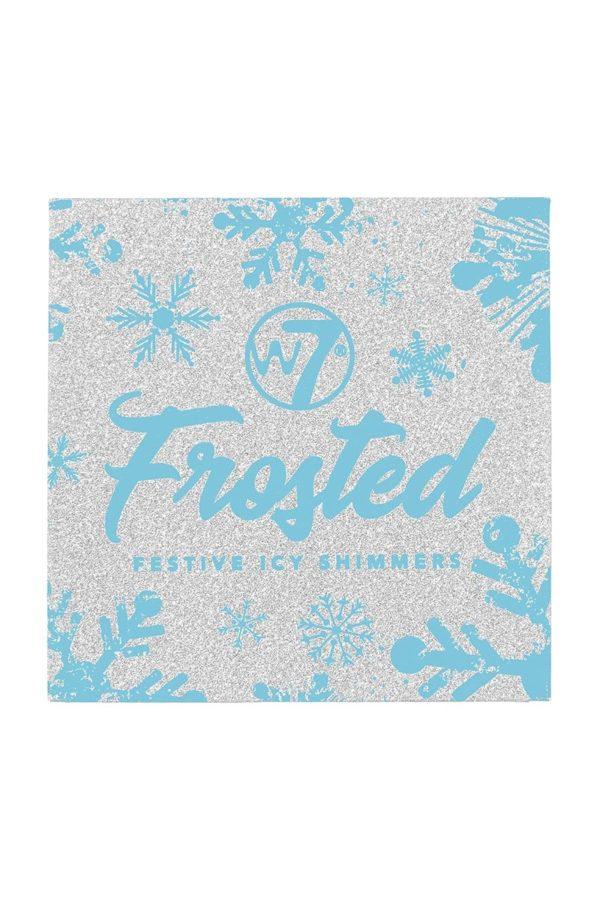 W7 Frosted Festive Icy Shimmers Παλέτα για Φωτοσκιάσεις