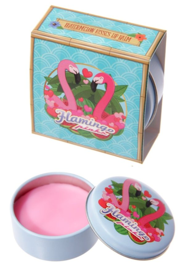 Flamingo Pinks Lip Balm Tin Watermelon Kisses