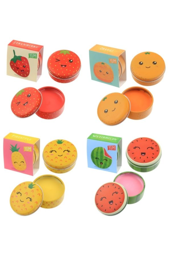 Yum Fruity Lip Balm Tin Orange