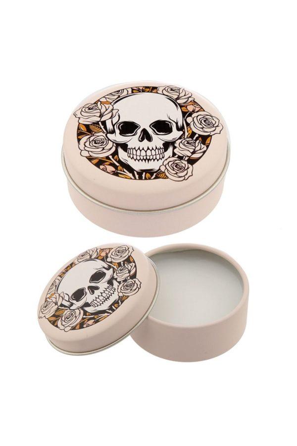 Skulls & Roses Lip Balm Tin Vanilla