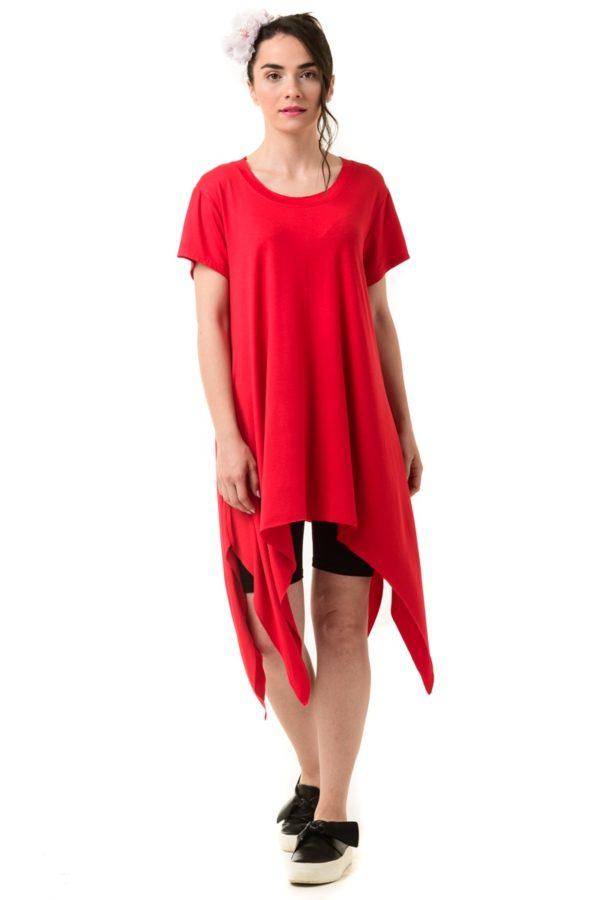 Μπλούζα με Μύτες Κόκκινη
