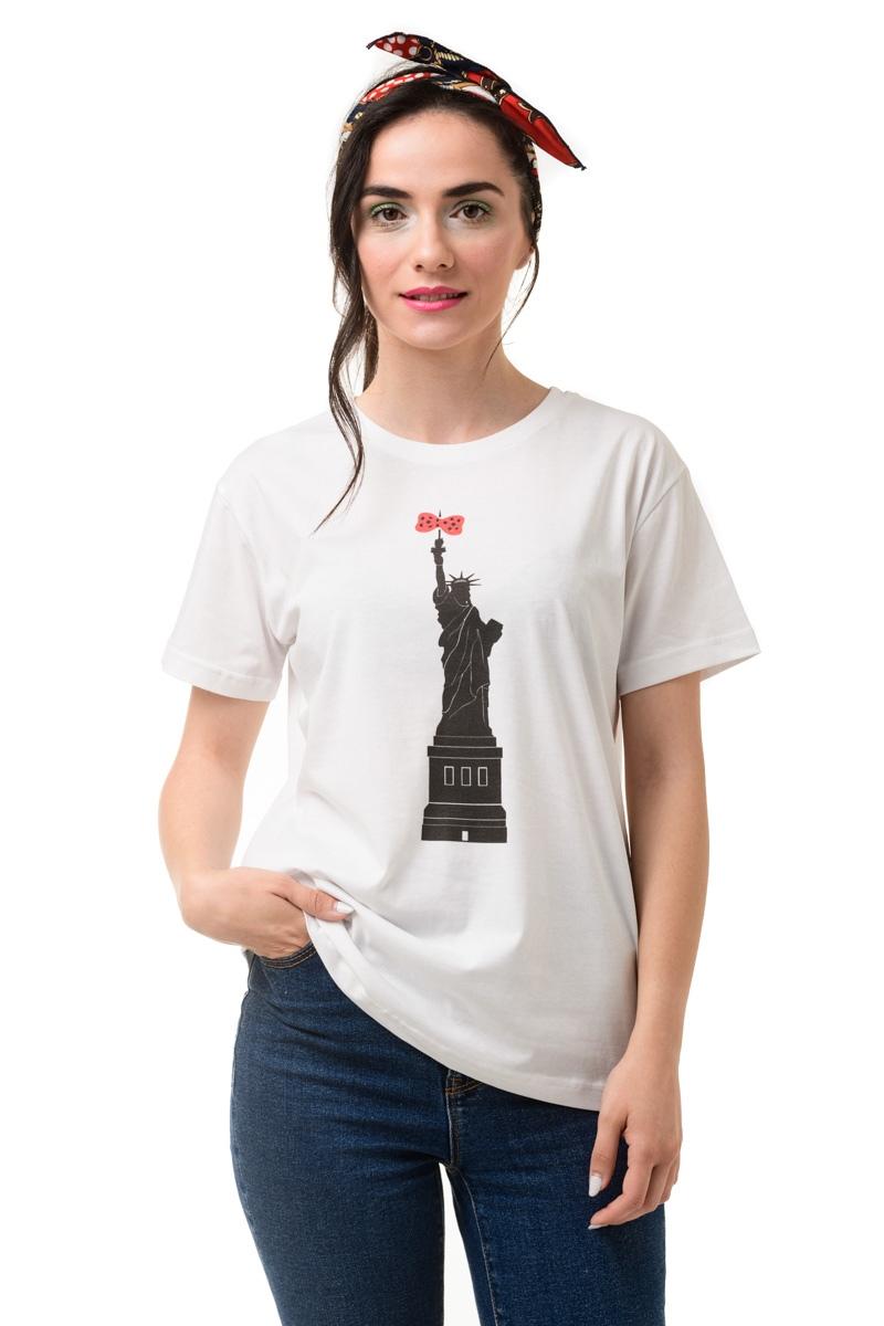 Κοντομάνικο T-Shirt Λευκό Liberty Statue