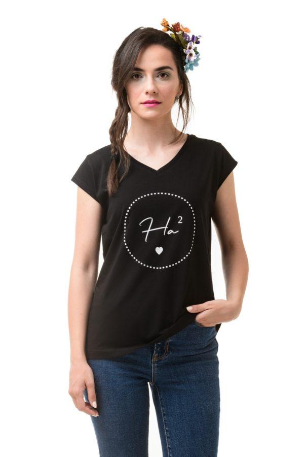 Μαύρο T-Shirt HaHa
