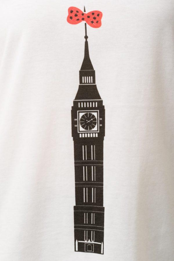 Άσπρο T-Shirt με V Λαιμόκοψη Big Ben