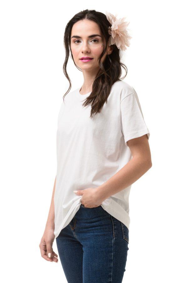 Άσπρο T-Shirt Κοντομάνικο