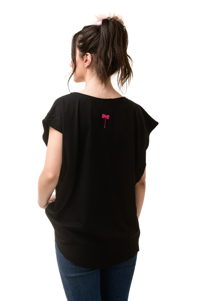 Μαύρη Μπλούζα Φαρδιά Meraki
