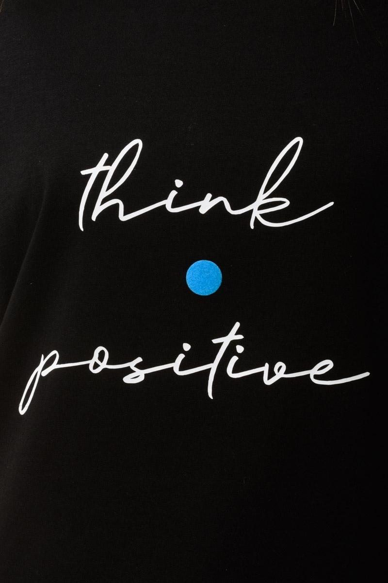 Μαύρο Μακό Μπλουζάκι Positive