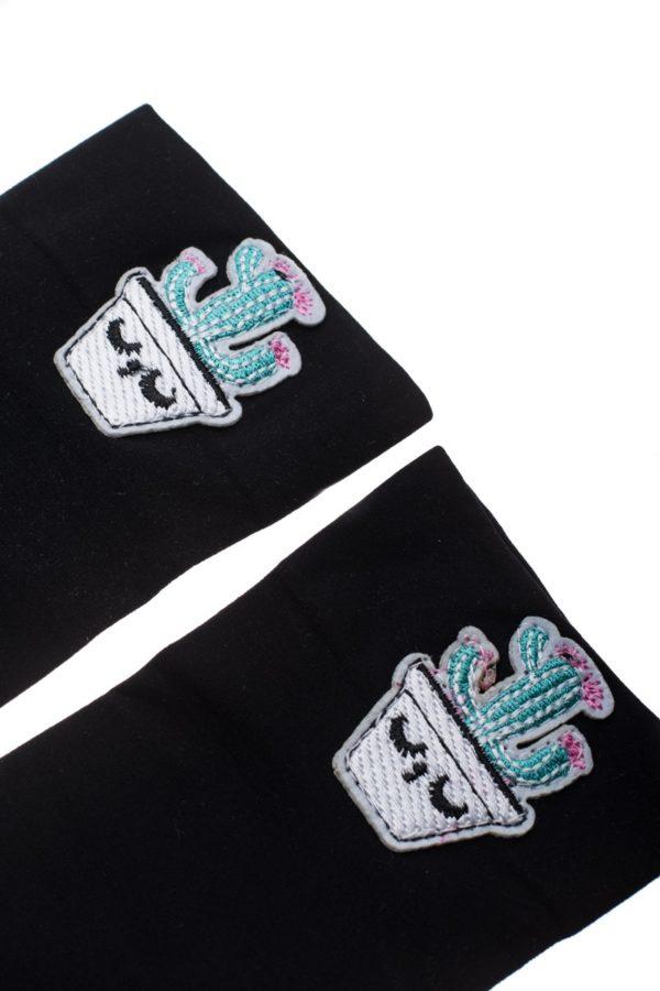 Μαύρες Κοντές Κάλτσες Κάκτος