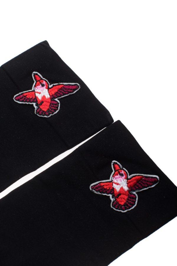 Μαύρα Κοντά Καλτσάκια Κόκκινο Πουλάκι