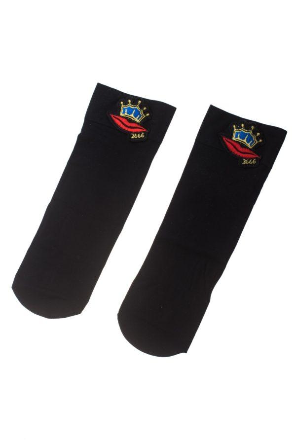 Μαύρες Κοντές Κάλτσες Κορώνα