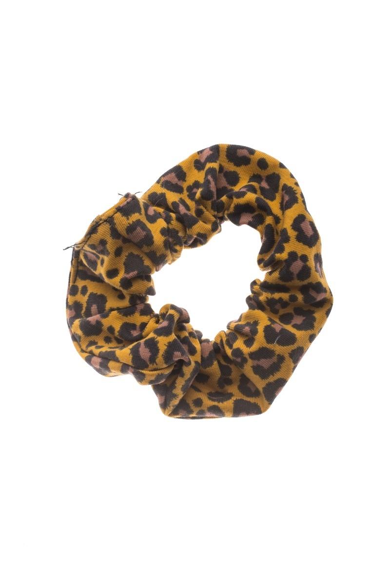 Λεοπάρ Σούρα Μαλλιών Κίτρινη Scrunchies