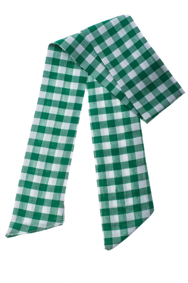 Πράσινη Καρό Κορδέλα Μαλλιών Φουλάρι