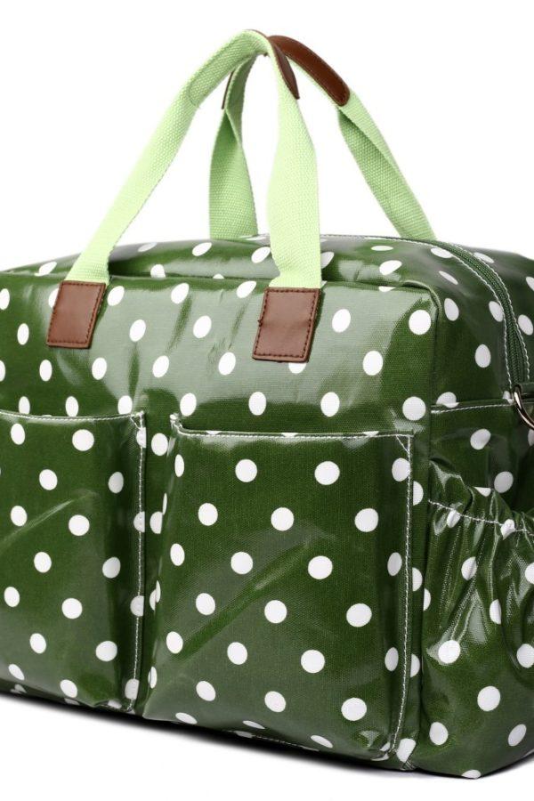 Πράσινη Πουά Τσάντα Αλλαξιέρα 4 Pcs