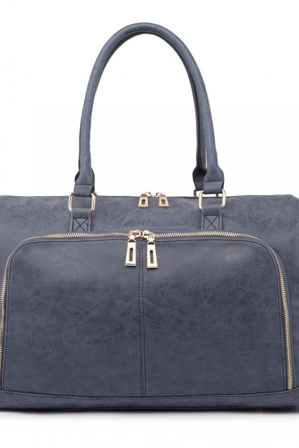 Μπλε Τσάντα Αλλαξιέρα Leather Look 3 Pcs