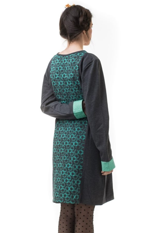 Φόρεμα Grey Circles Turquoise