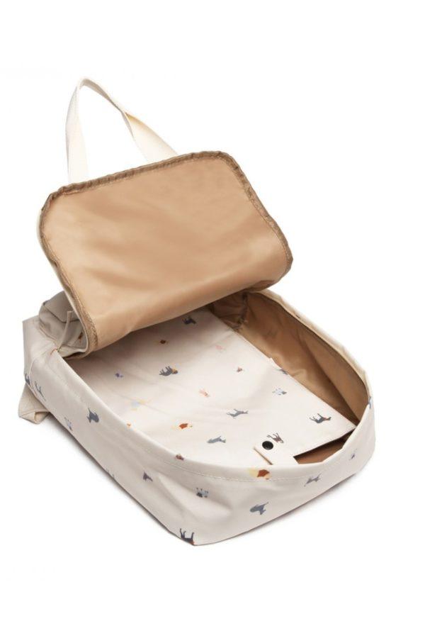 Εκρού Σκυλάκια Τσάντα Πλάτης Laptop