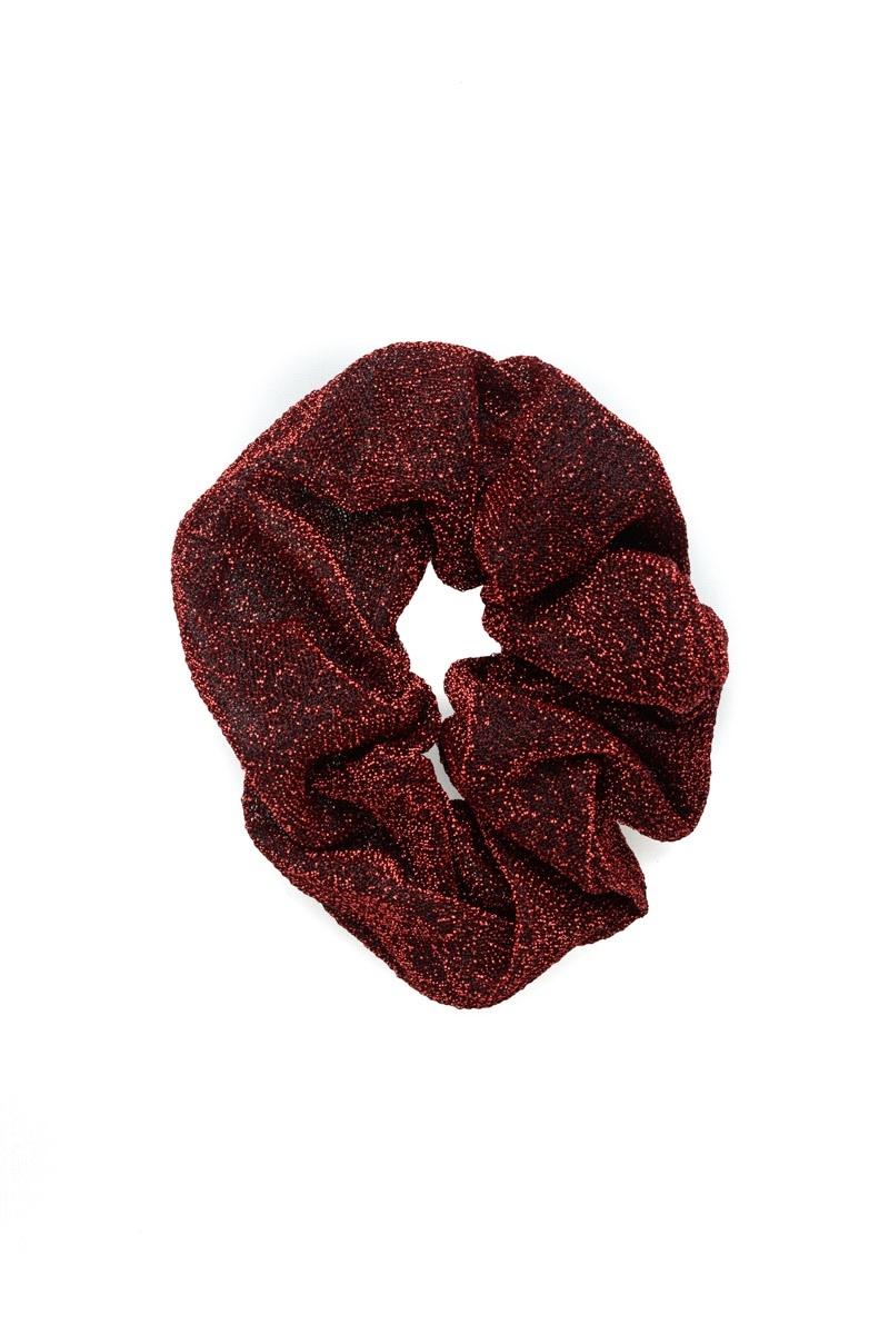 Κόκκινη Σούρα Μαλλιών Glitter