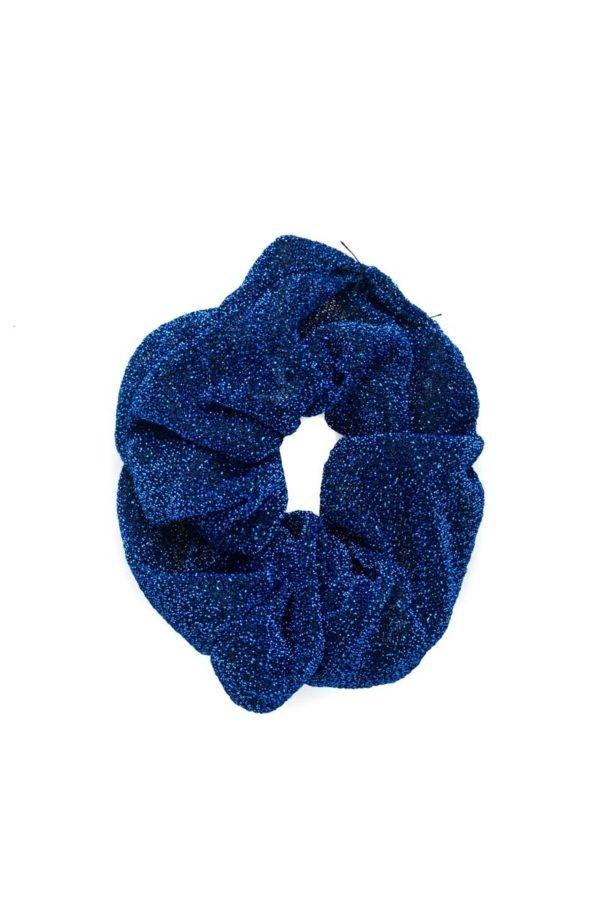Μπλε Σούρα Μαλλιών Glitter