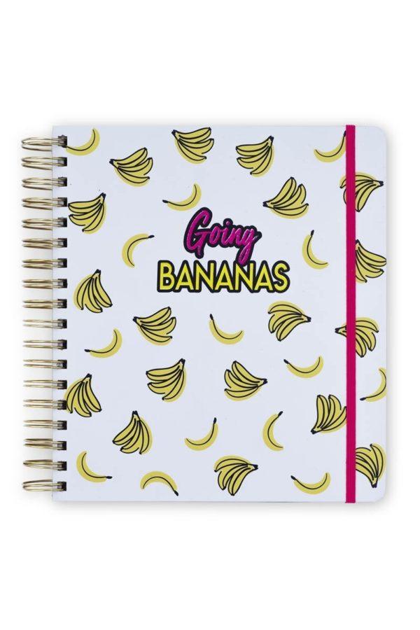 Μεγάλο Σπιράλ Ημερολόγιο Planner 17M Bananas Tri-Coastal Design