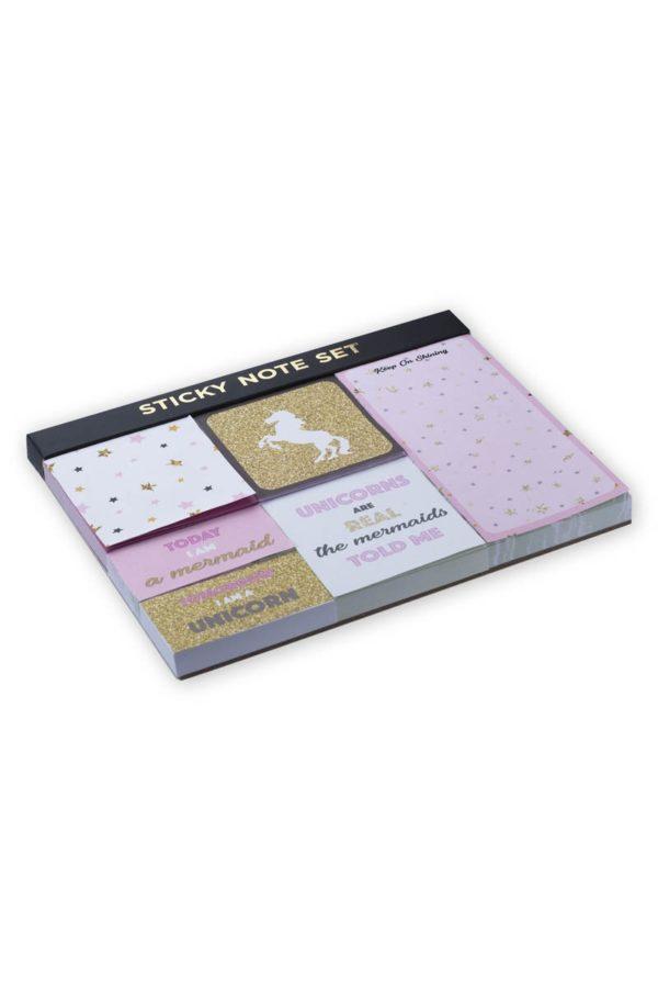 Set Αυτοκόλλητα Χαρτάκια Σημειώσεων Unicorns Tri-Coastal Design