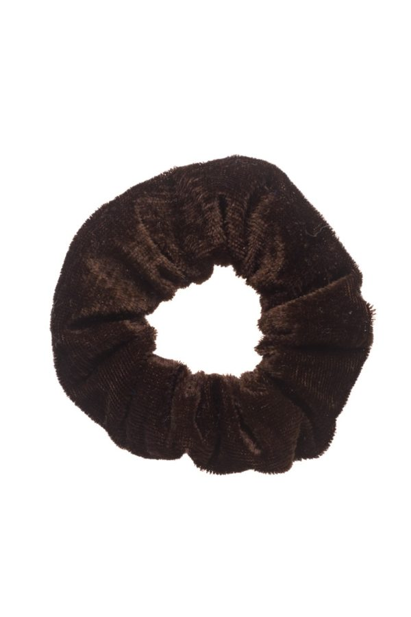 Βελούδινη Σούρα Μαλλιών Καφέ