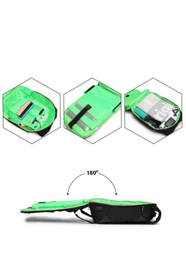 Μαύρη Αντικλεπτική Τσάντα Πλάτης USB Unisex