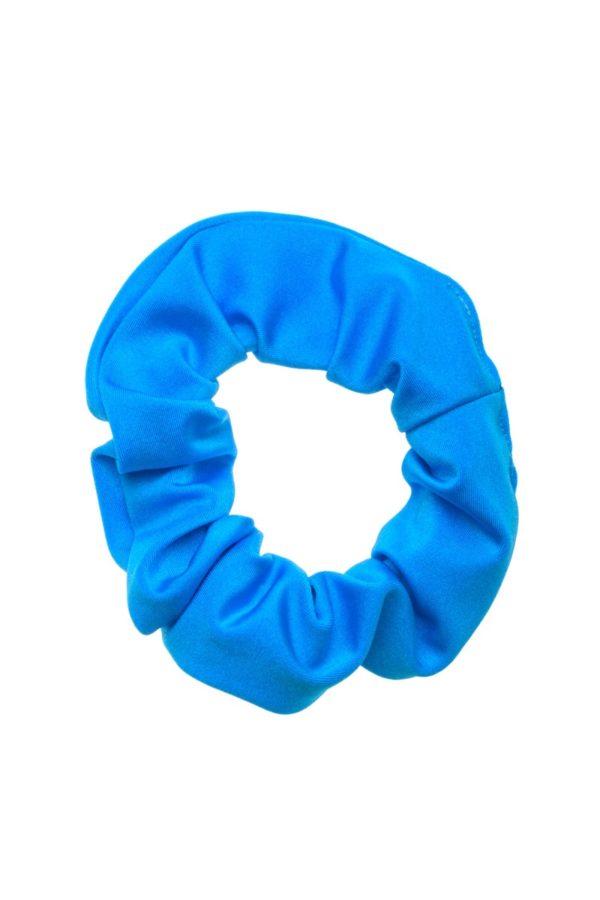 Γαλάζια Shiny Σούρα Μαλλιών Λύκρα Scrunchie