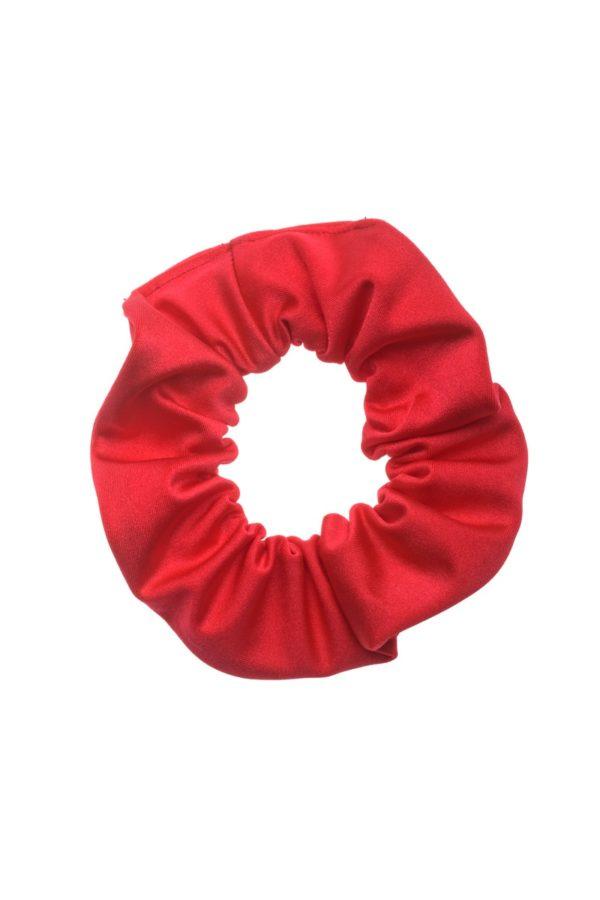 Κόκκινη Shiny Σούρα Μαλλιών Λύκρα Scrunchie