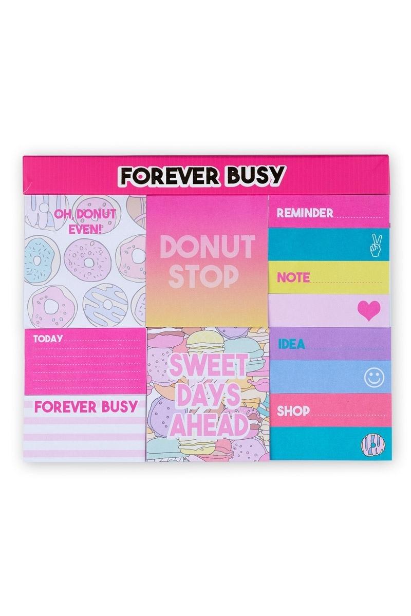 Set Αυτοκόλλητα Χαρτάκια Σημειώσεων Donuts Tri-Coastal Design