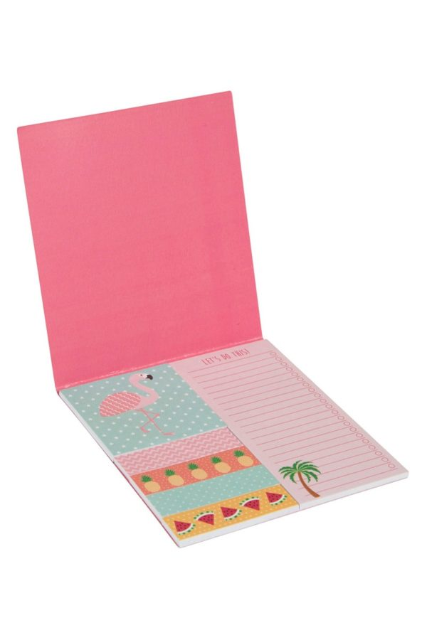 Set Αυτοκόλλητα Χαρτάκια Σημειώσεων Flamingo