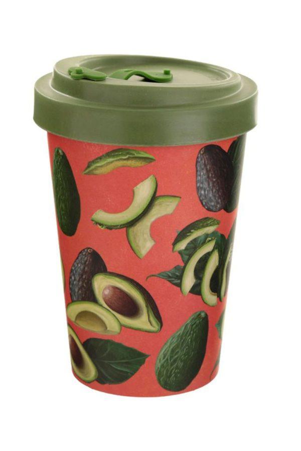 Ποτήρι Καφέ Avocado Red Bamboo Coffee Cup