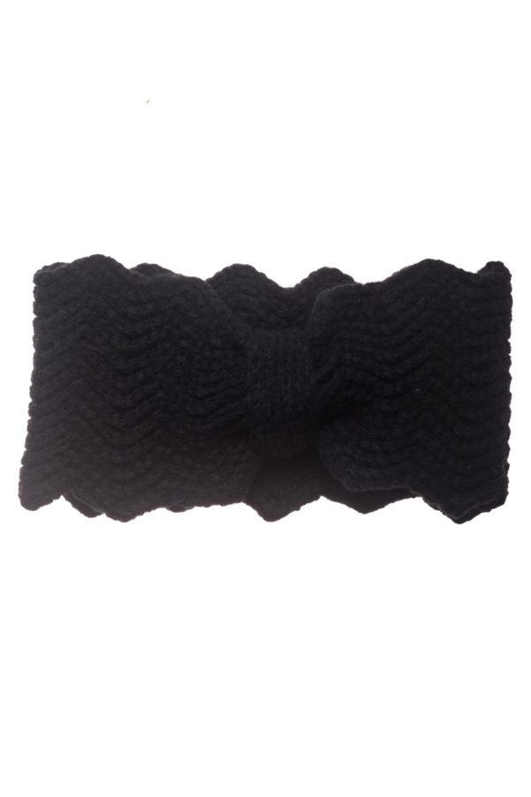 Μαύρη Πλεκτή Κορδέλα Μαλλιών Frill