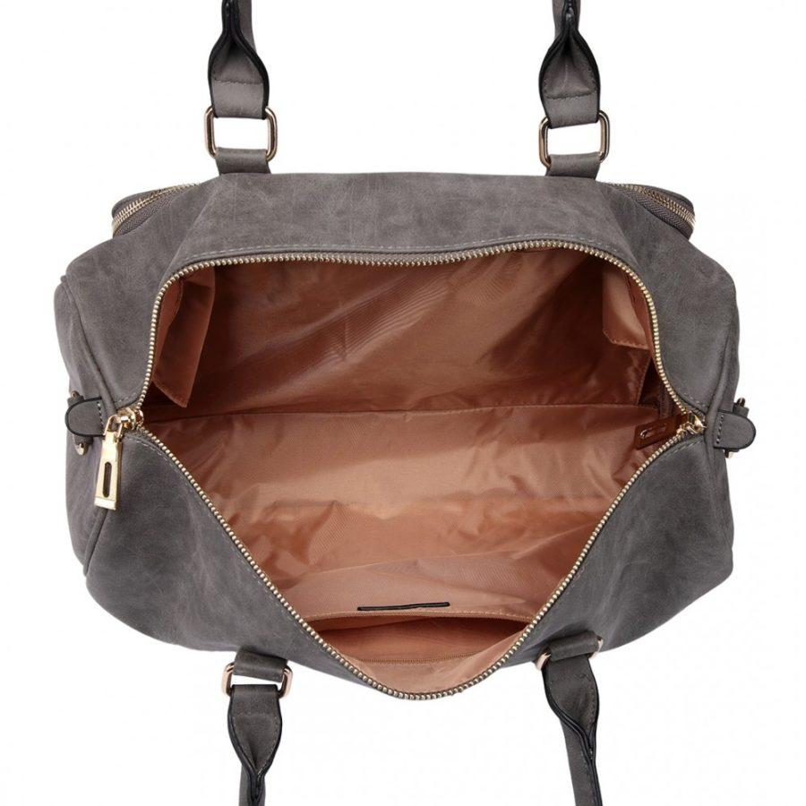 Τσάντα Αλλαξιέρα Γκρι Leather Look 3 Pcs
