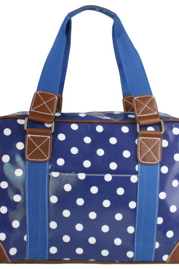 Μπλε Πουά Τσάντα Weekend