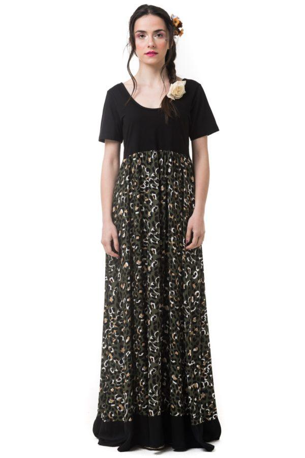 Μακρύ Φόρεμα Animal Print